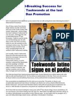 Solarte Taekwondo put on a News-Worthy Performance at the last Dan Promotions!