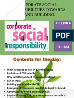 CSR Towards Brand Loyalty