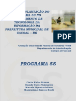 Plano de implantação do programa 5 s no departamento