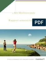 Rapport Semestriel 2013