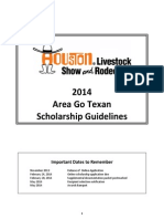2014 Area Go Texan Guidelines