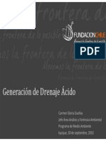Generacion Drenaje Acido Chile