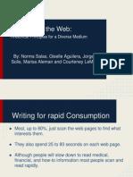 writing for the web  rhetorical principles for a diverse medium
