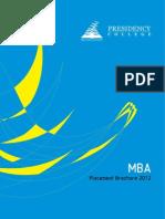 MBA Placement Brochurepresidency