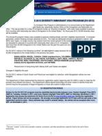 INSTRUCTIONS FOR THE 2013 DIVERSITY IMMIGRANT VISA PROGRAM (DV-2013)