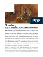 Why NO Bankers Are Going To Jail - Judge Rakoff Objects (Bloomberg Reports 2013-11-17)