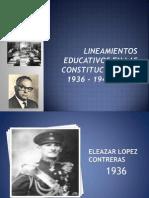 Lineamientos Educativos en Las Constituciones de 1936