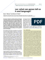 FOXP2 in Focus - What Can Genes Tell Us About Speech and Language