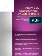 ethics and organizational communications