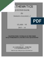 Class Vi Maths Question Bank