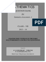 Question Bank Class 7 KV