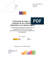 El Derecho de Autor y Los Contratos de Los Contenidos Editoriales en El Entorno Digital 2