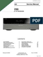 Harman Kardon Avr 255 230l service manual receiver