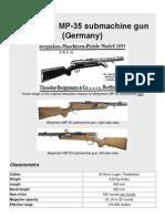 Bergmann MP-35 Submachine Gun (Germany)
