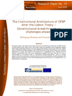 The Institutional Architecture of CFSP