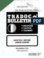 1976 Usar Tradoc Rpg-7 Sec-unclas