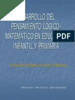 DESARROLLO DEL PENSAMIENTO LÓGICO-MATEMÁTICO EN EDUCACIÓN INFANTIL Y