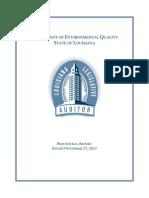 Louisiana Legislative Auditor -- DEQ Waste Tire Management Program, Payroll Practices 2013
