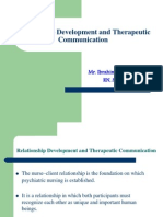 Relationship Development and Therapeutic Communication