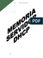 Memoria Servidor Dhcp