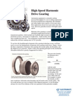 High Speed Harmonic Drive Gearing
