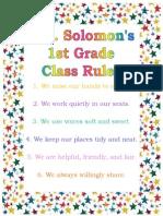 Student Teaching Class Rules