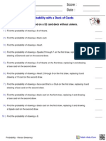 Probability - Kieran Sweeney - Worksheet