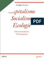Capitalisme Socialisme Ecologie - Andre Gorz