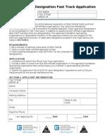 RAA GAA Designation Fast Track Application 2013