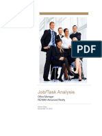 job task analysis