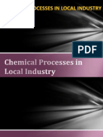 Chemical Processes in Local Industry