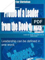 Lesson 22- Profile of a Leader From the Book of Acts