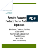 Formative Assessment Feedback NCSM 4-15-2010