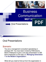 Business Communications (Lecture 6 and 7)