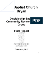Discipleship Working Group Report