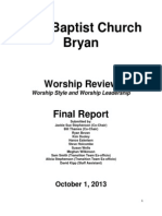 Worship Review Working Group Report