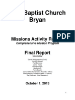 Mission Activity Working Group Report