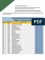 Recordatorio Del Calendario de Evaluaciones Nacionales Virtuales 2013