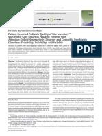QV STUDY 2011 Patient-Reported Pediatric QV - Limbers 2011