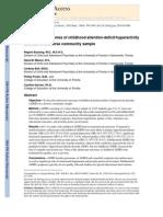 QV STUDY 2010 Adolescent Outcomes of Childhood TDAH en a Diverse Community Sample - Bussing