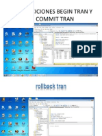 Tranciciones Begin Tran y Commit Tran