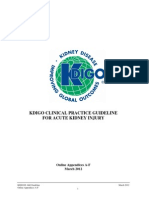 2012 KDIGO Clinical Practice Guideline for Acute Kidney Injury Appendices