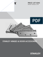 Stanley Hinges and Door Accessories 2014 Price Book
