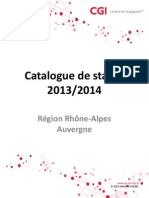 Catalogue de Stages CGI = ISO 8859 1 Q Rh=F4ne = Alpes Auvergne 2013 2014