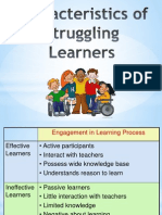 characteristics of struggling learners
