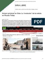 """Armas químicas en Siria_ La """"evolución"""" de la noticia en Russia Today"""