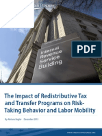 The Impact of Redistributive Tax and Transfer Programs on Risk-Taking Behavior and Labor Mobility