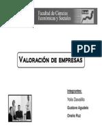 Valoracion de Empresas - Yolis Davalillo, Gustavo Agudelo, Onelio Ruz