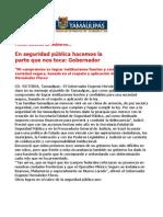 com 0483, 271105 Eugenio Hernández destaca seguridad pública en su Primer Informe de Gobierno.
