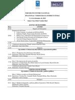 Programa del Tercer Encuentro Nacional Estado Plurinacional y Democracia Intercultural